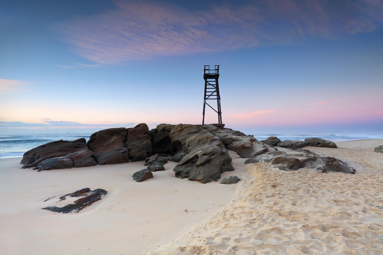 Redhead Beach just before sunrise.