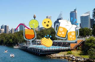 ABC Pool with emojis of drinks on top