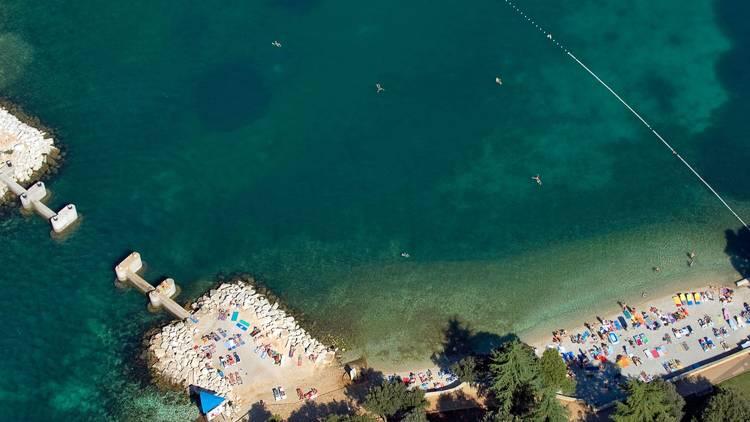 Vrsar beach