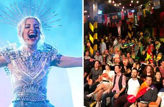 kate miller-heidke eurovision, crowd watching