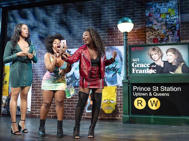 Alfie Fuller, Antoinette Crowe-Legacy and Paige Gilbert in BLKS