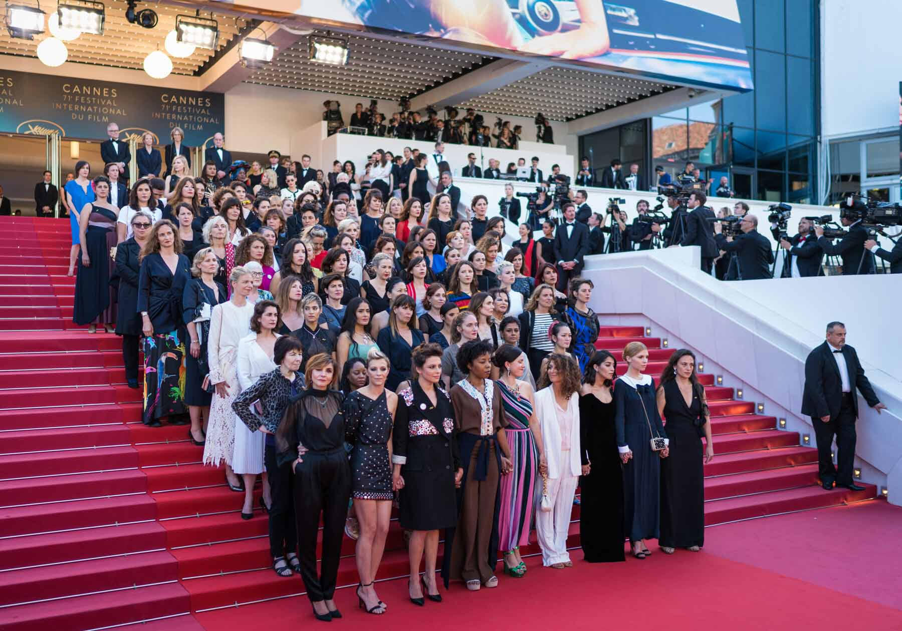 #Metoo protest at Cannes (DO NOT REUSE)