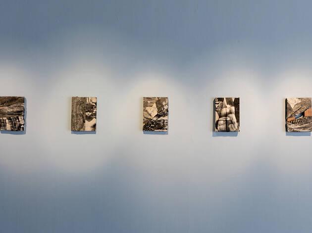 Zulkhairi Zulkiflee, (Type as abstraction) II, I-V, 2018, Print on calico, 16 x 21.5 x 2 cm