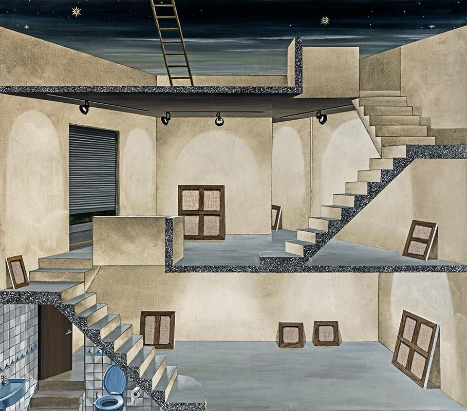 Gino Rubert pinta la buidor de les galeries