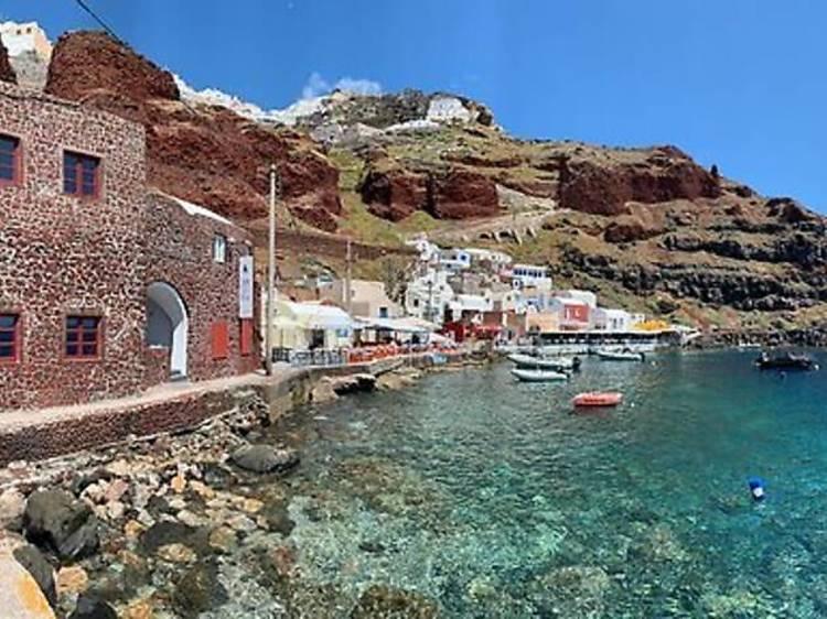 4. Manger sur la baie d'Ammoudi