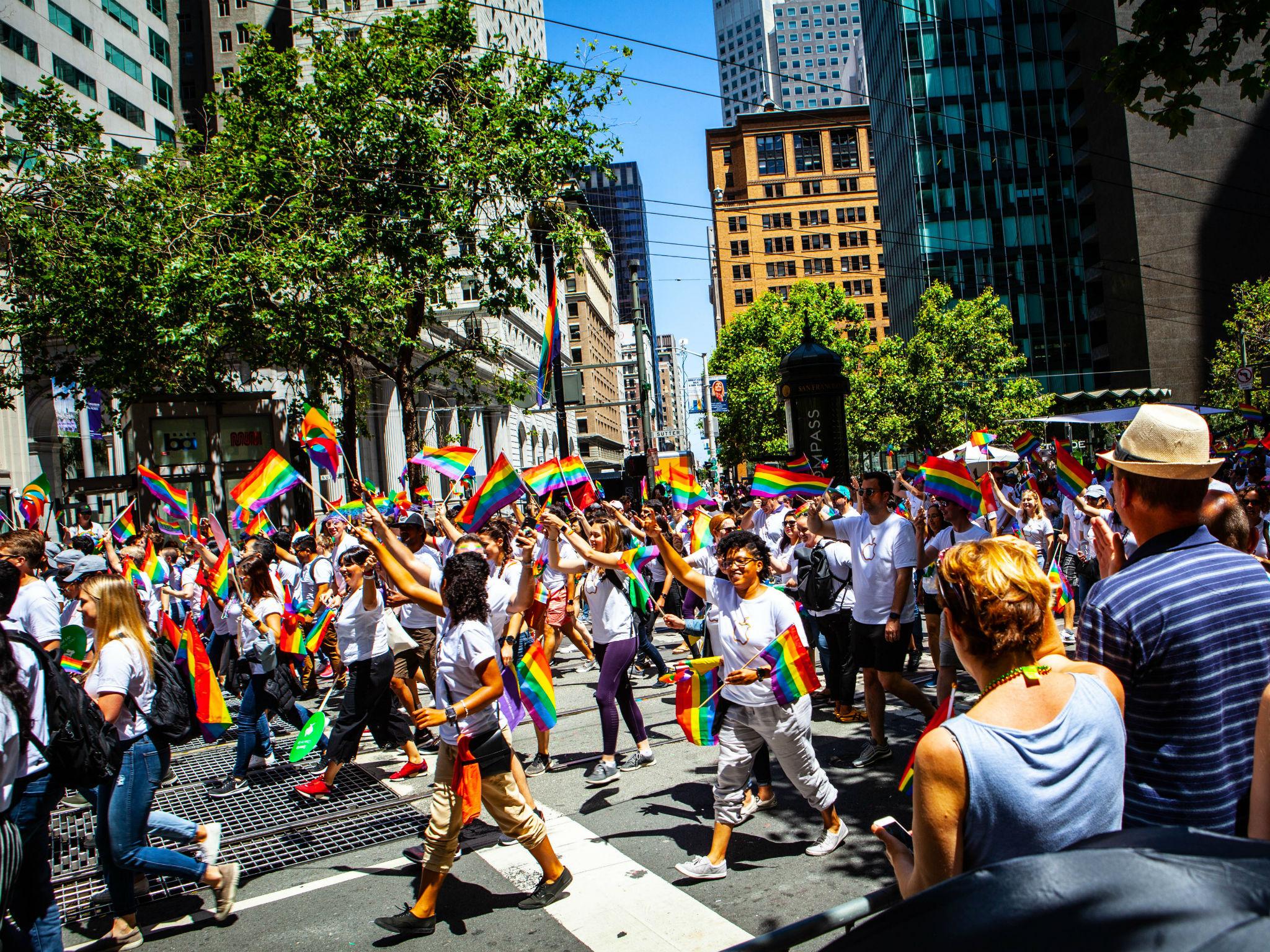 Pride celebrations in San Francisco