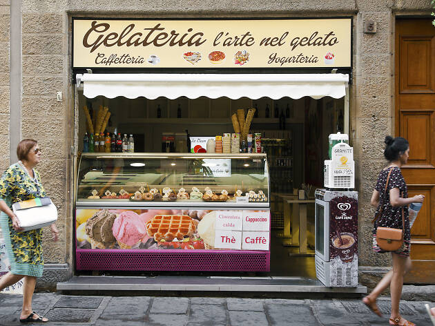 Gelateria in Italy