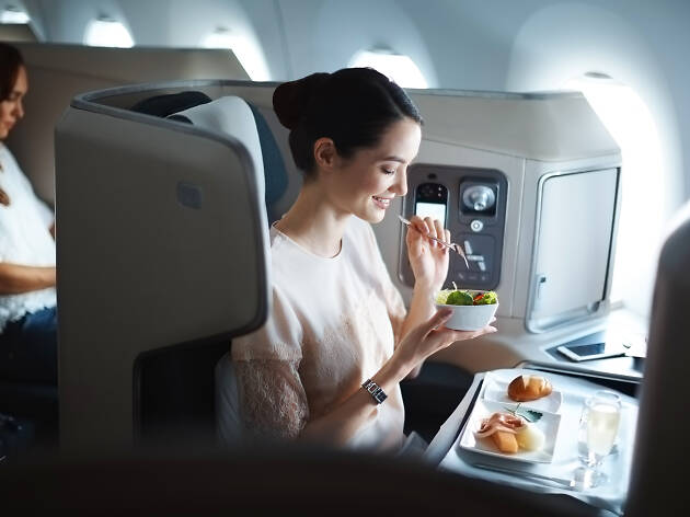 Cathay Pacific in-flight food