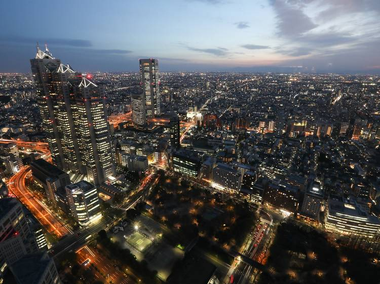 Take in a great view of the Tokyo skyline for free at the Tokyo Metropolitan Government Building