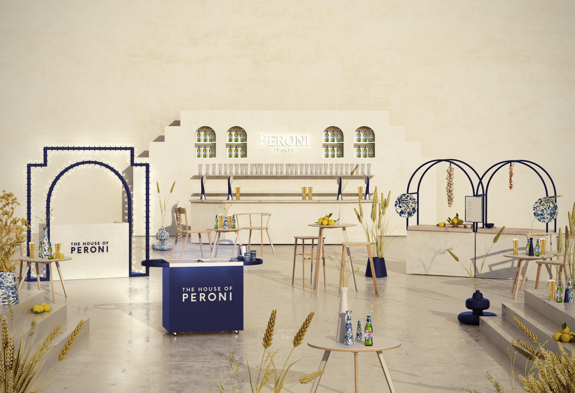 Du 24 au 26 mai, la marque de bière Peroni installe à Paris The House of Peroni