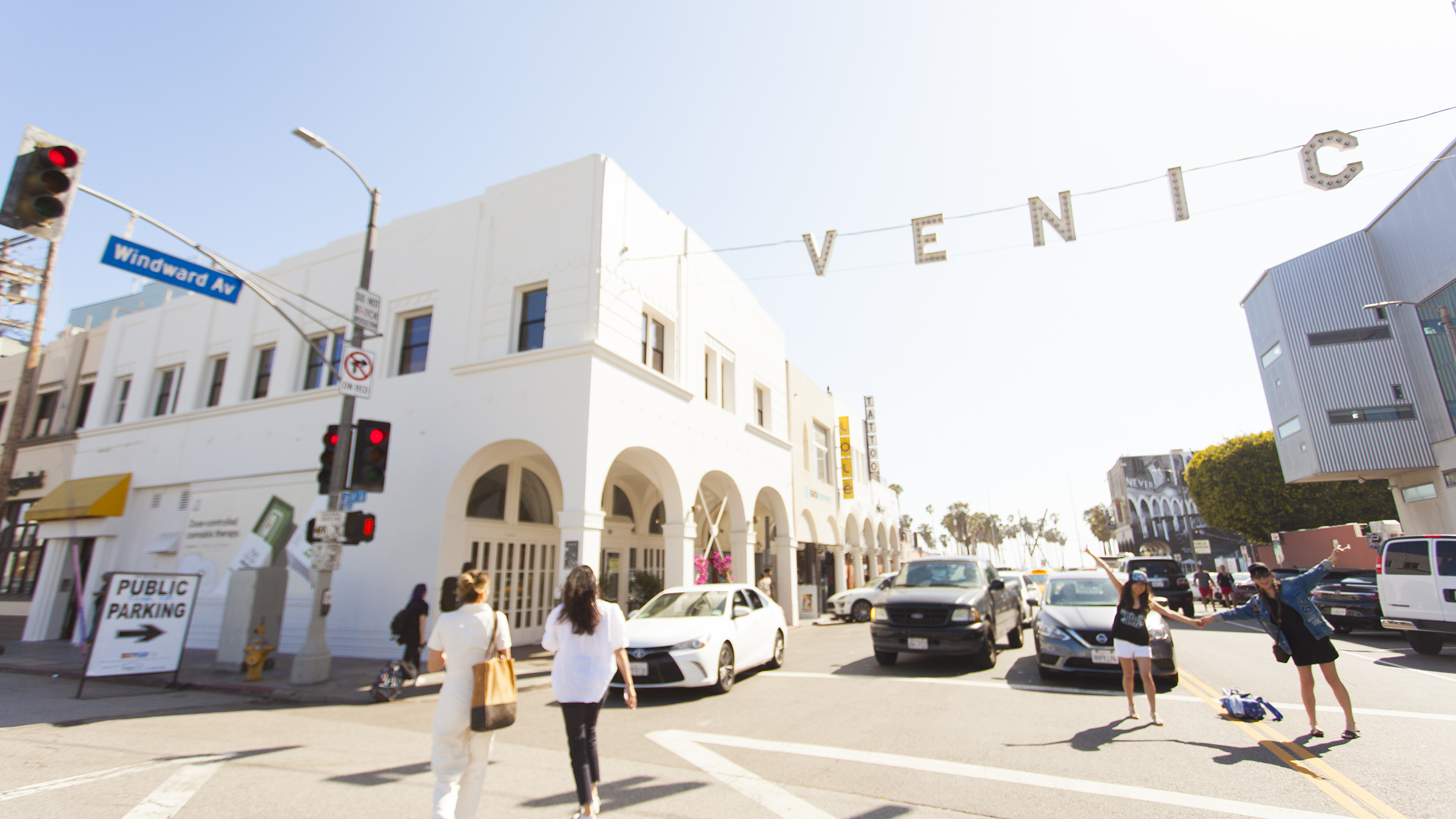 """Aussie café Great White launched a new restaurant and bar right below the """"Venice"""" sign"""