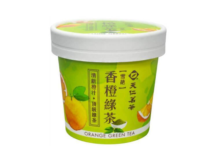 天仁茗茶香橙綠茶雪葩