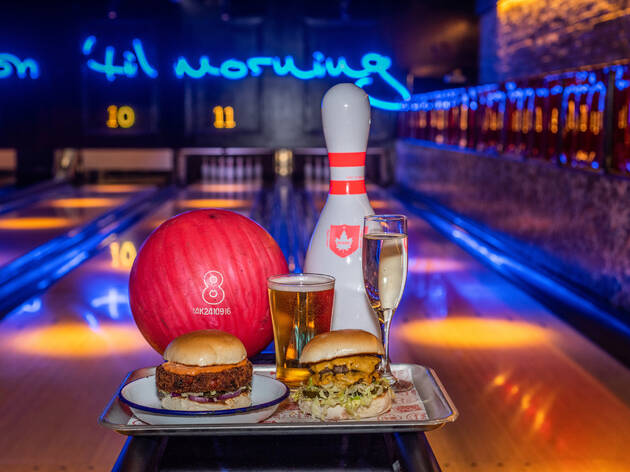 Bowling, burgers and bubbles at QUEENS