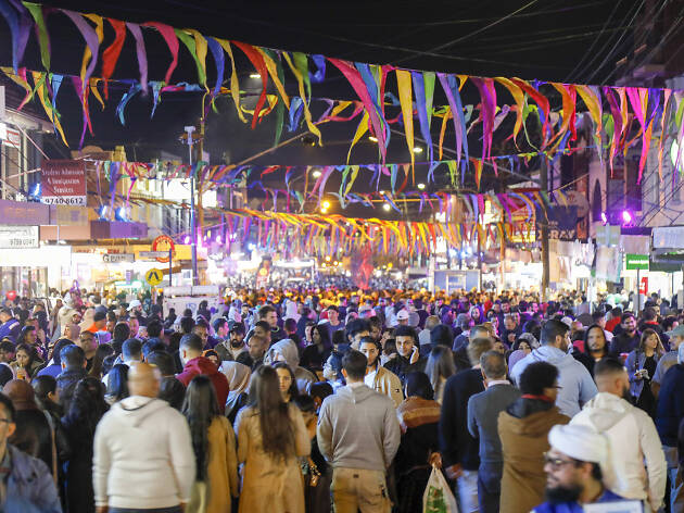 People at the night markets in Lakemba during Ramadan
