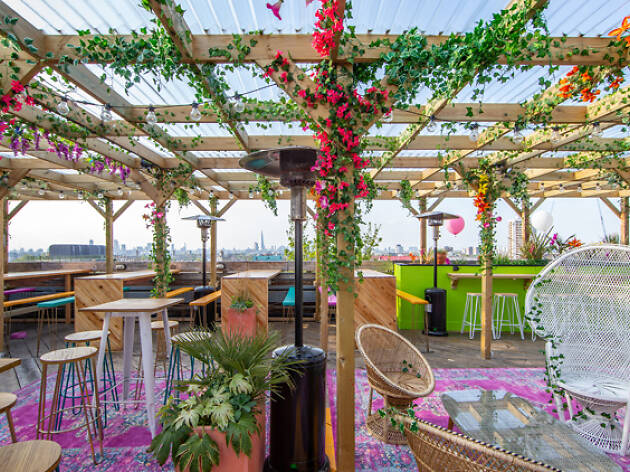 Bussey rooftop bar, best rooftop bars in London