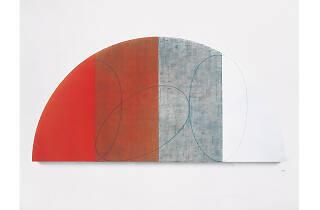 Robert Mangold. Plano curvo / Figura XI, 1995
