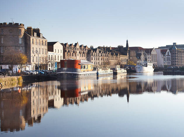A waterside view in Leith in Edinburgh