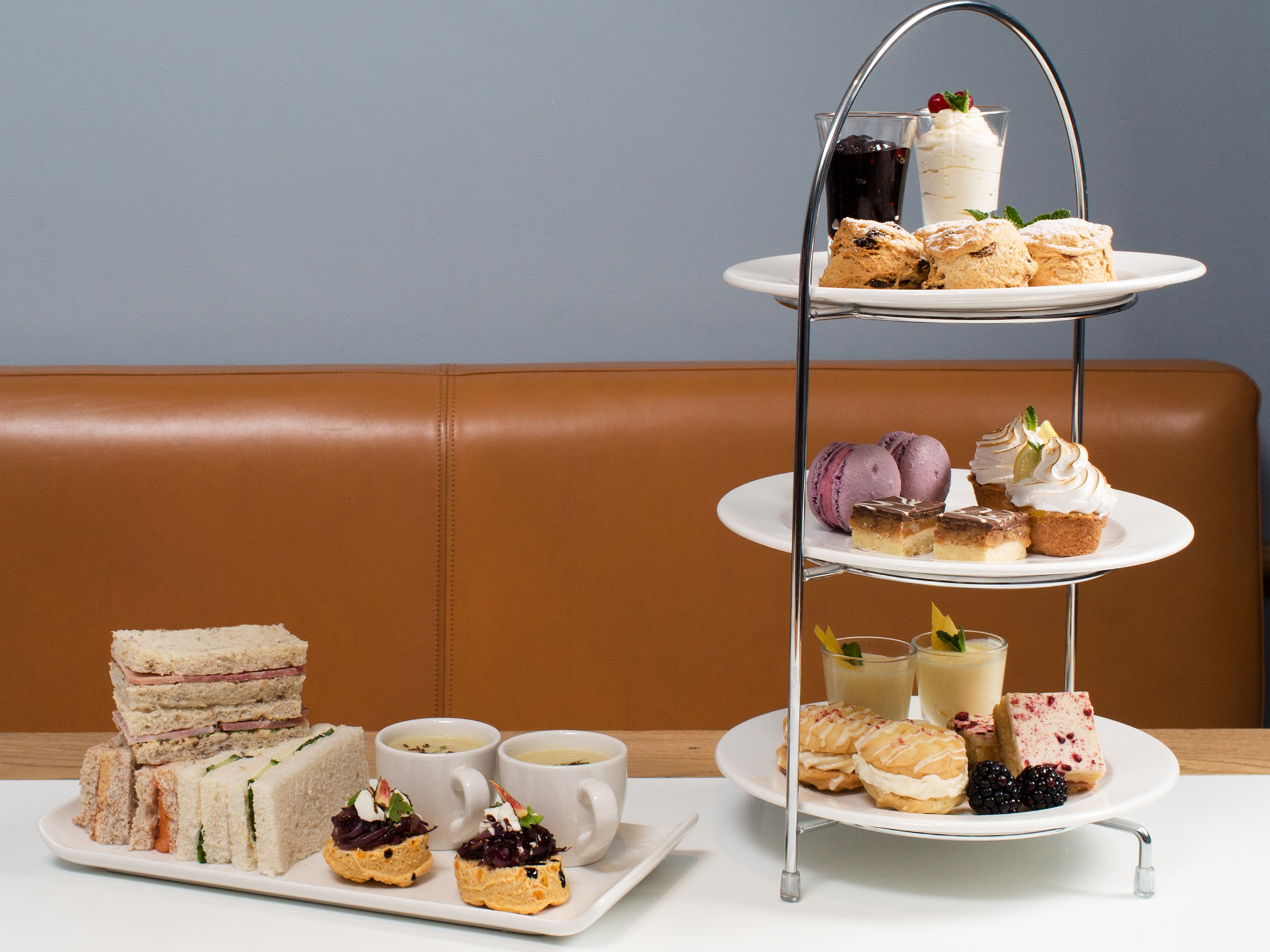 Afternoon tea at Café Portrait in Edinburgh