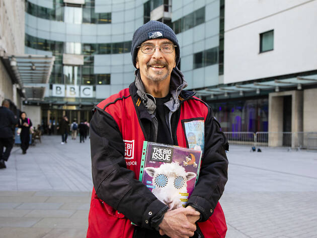 George Anderson, a Big Issue seller
