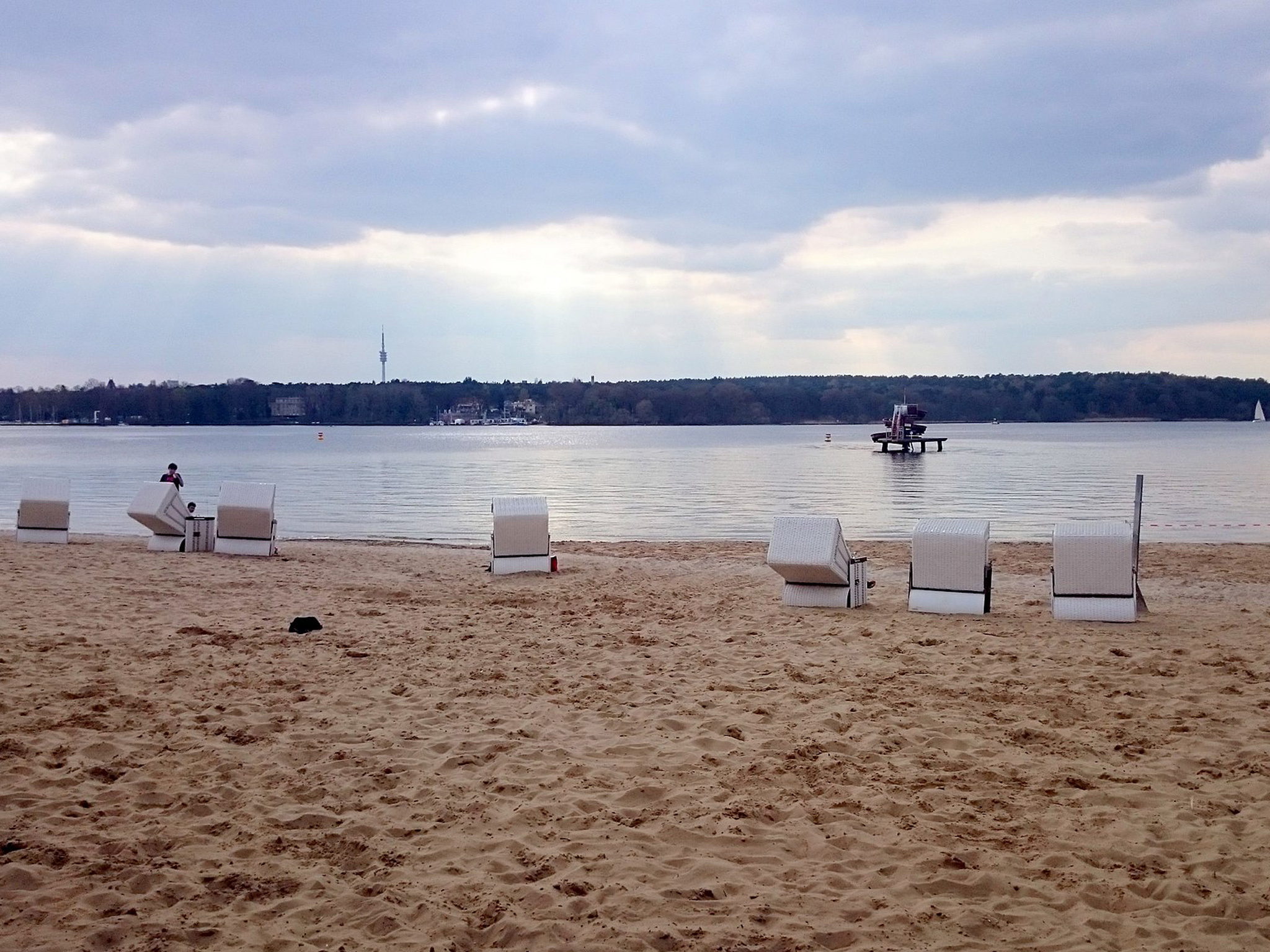 On the beach at Strandbad Wannsee in Berlin