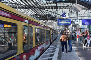 A platform at a train station in Berlin