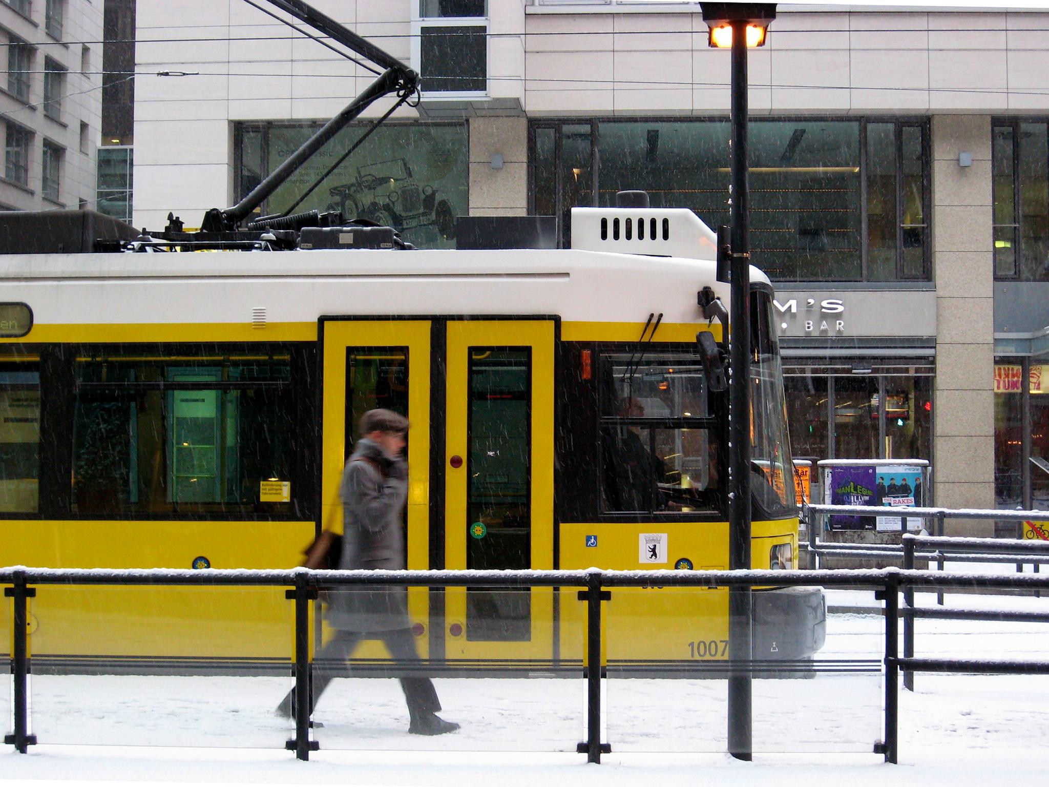 A tram in Berlin