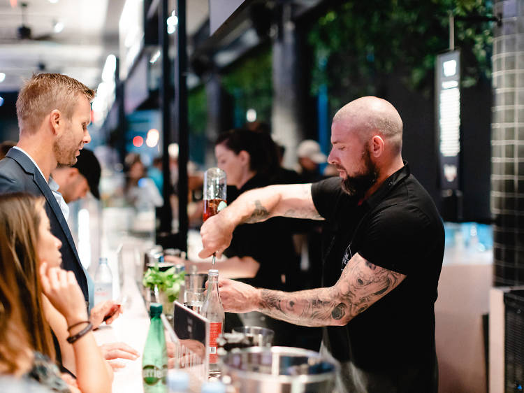Sip bourbon all month long at Time Out Market Miami