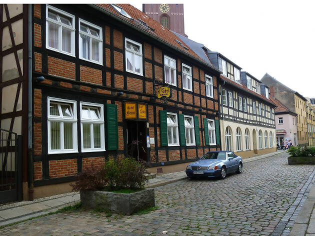 A quaint street in Spandau in Berlin