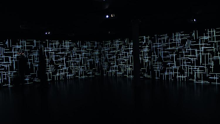Instalación La lluvia de Magdalena Fernández en el Museo de Arte Carrillo Gil
