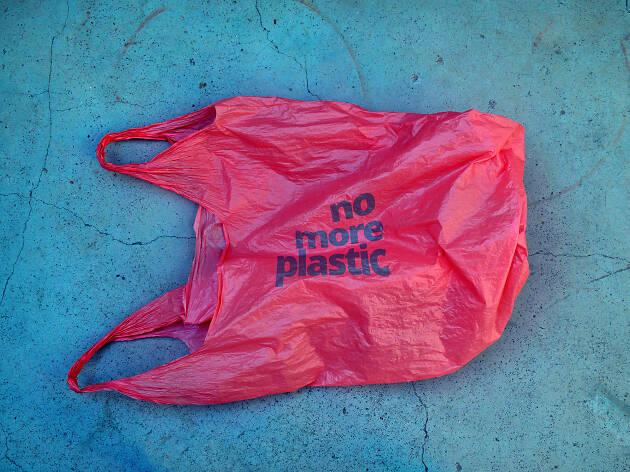 No plastic bag - stock image