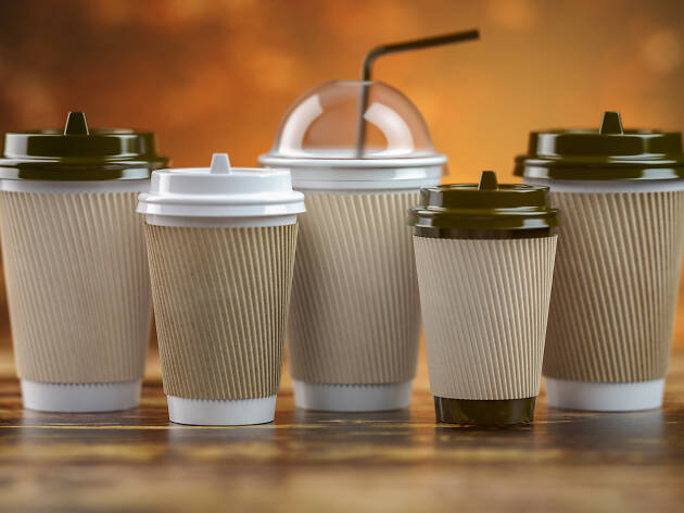 Coffee takeaway cup - stock image