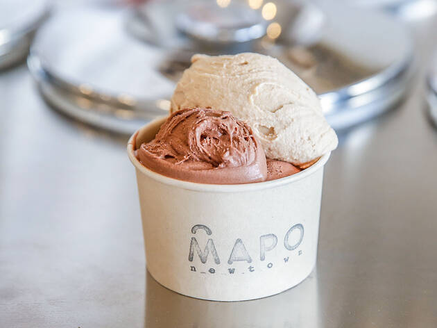 Ice cream in a cup at Mapo Newtown