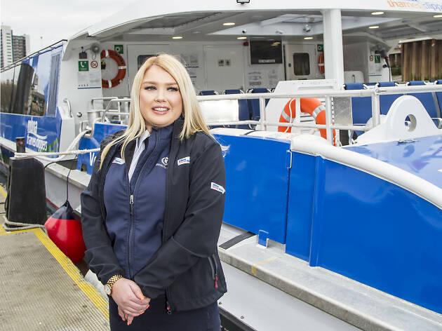 Ellie Wooldridge, a Thames Clipper captain
