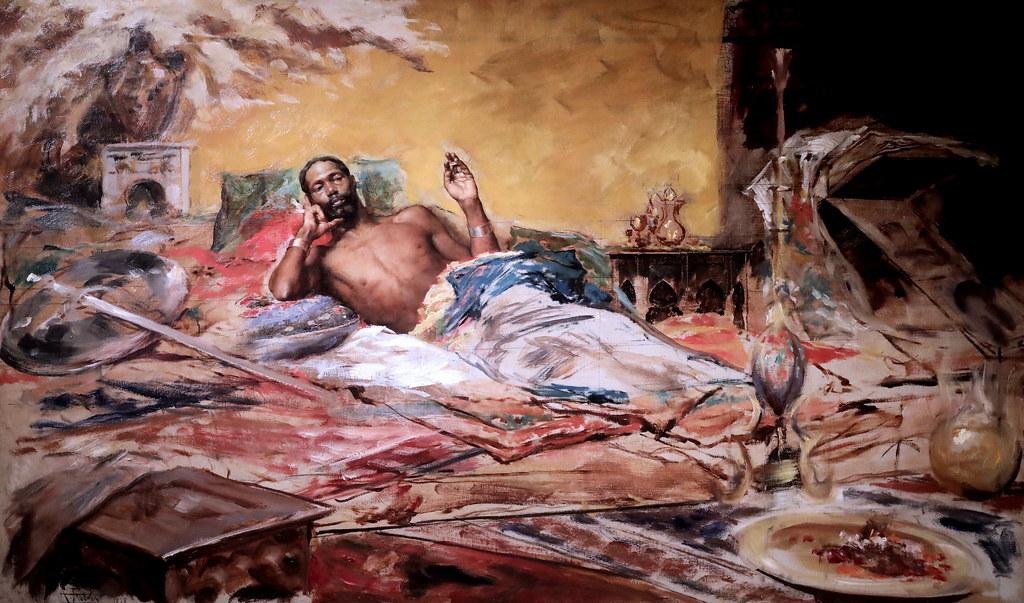 Repòs del guerrer, Antoni Fabrés, 1878