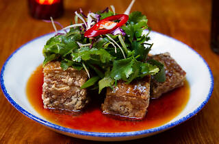 Red Spice Road pork belly dish