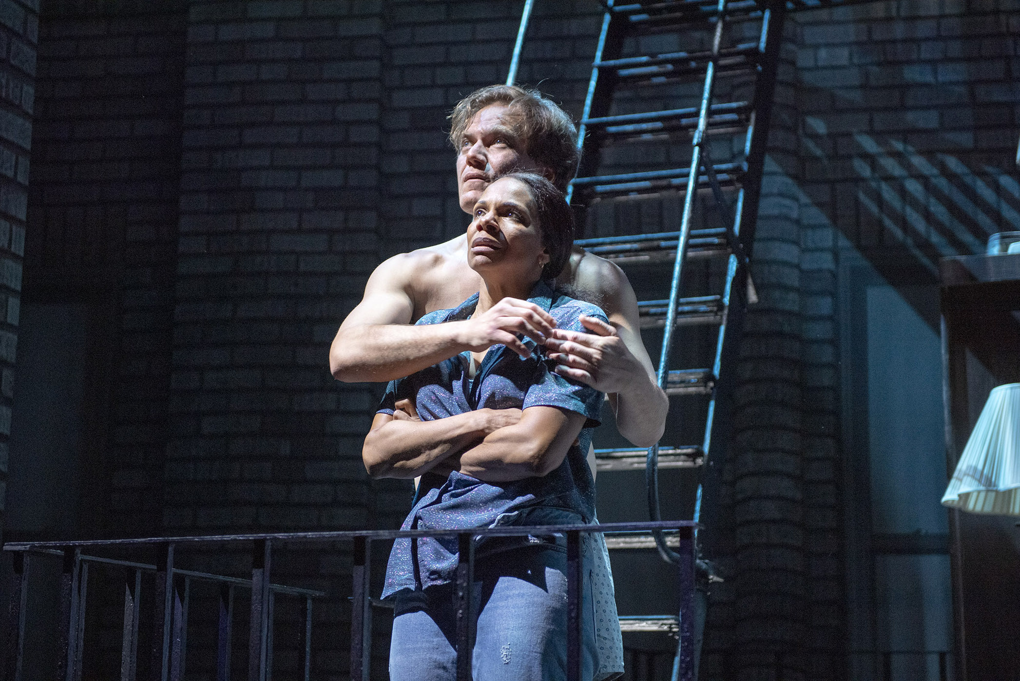 Audra McDonald and Michael Shannon in Frankie and Johnny in the Claire de Lune