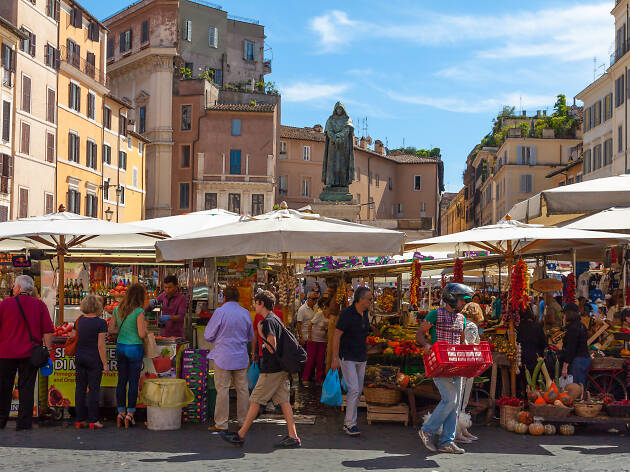 The Market of Campo de' Fiori