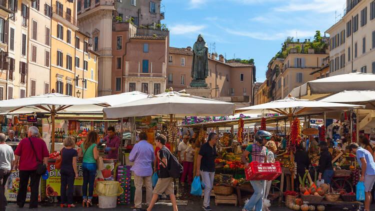 The Market of Campo de' Fiori