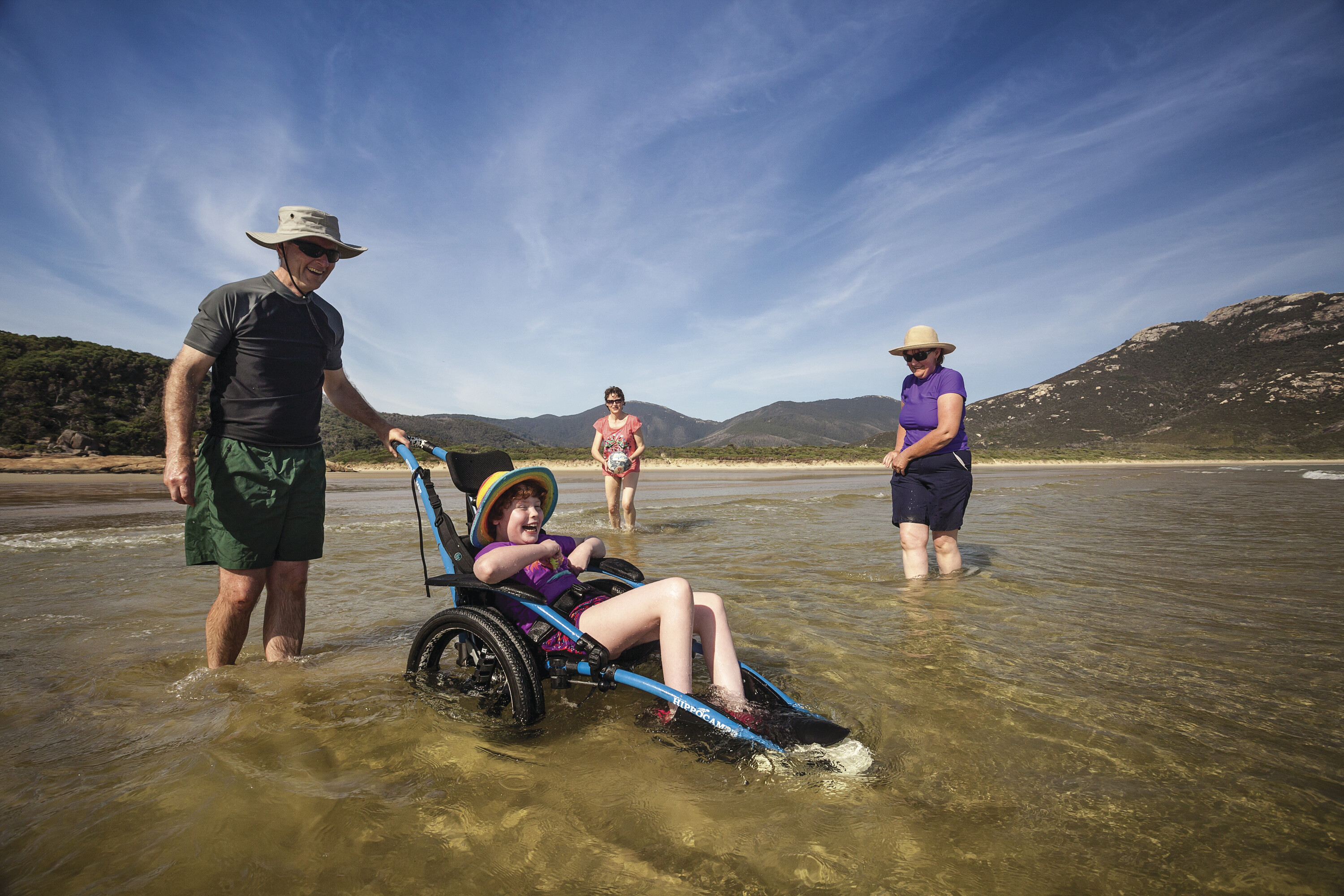 All terrain wheelchair in use at Wilsons Promontory