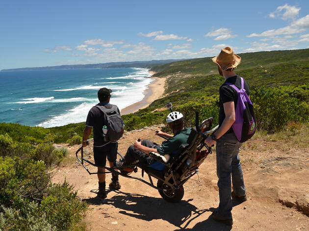 Trailriders being used on the Great Ocean Walk