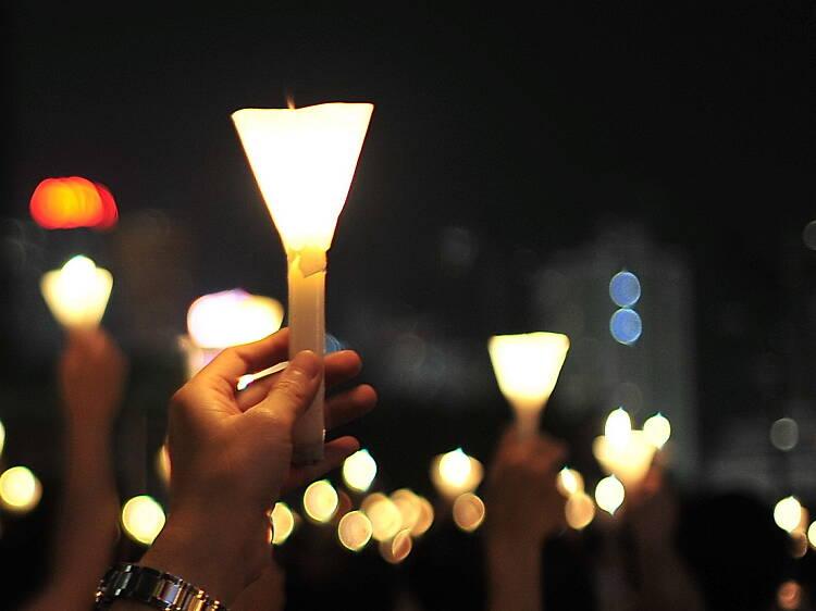 Alternative Vigil at Hong Kong Cultural Centre