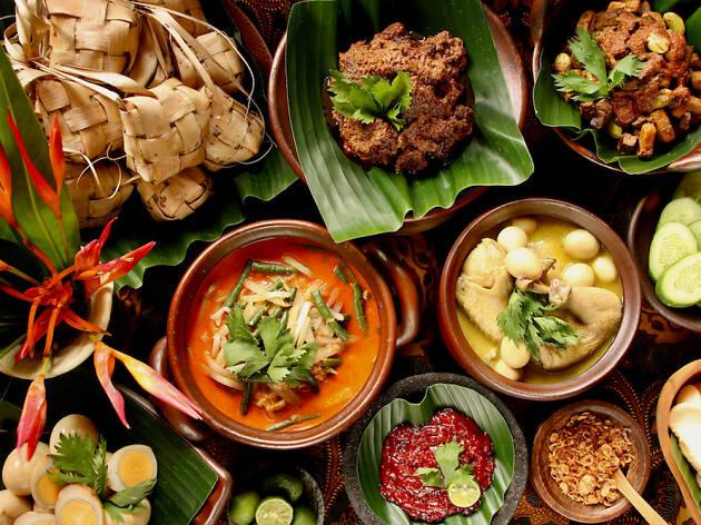 hari raya food, ketupat, rendang