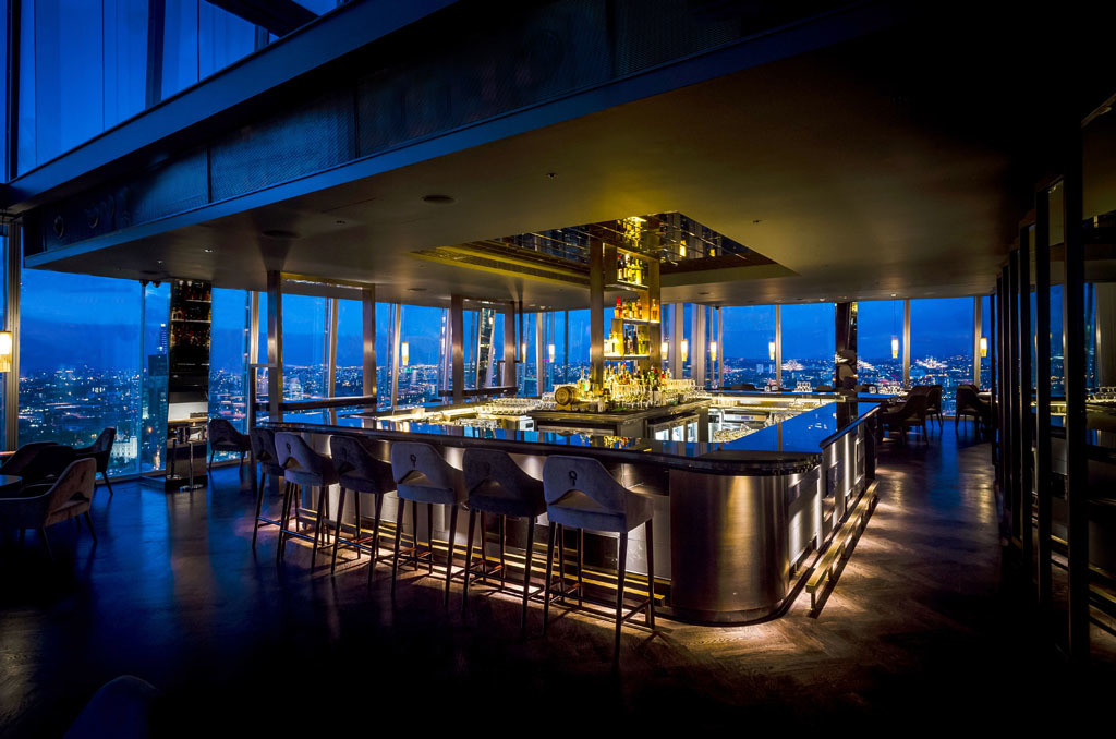 best london bridge bars, atrium bar at aqua shard