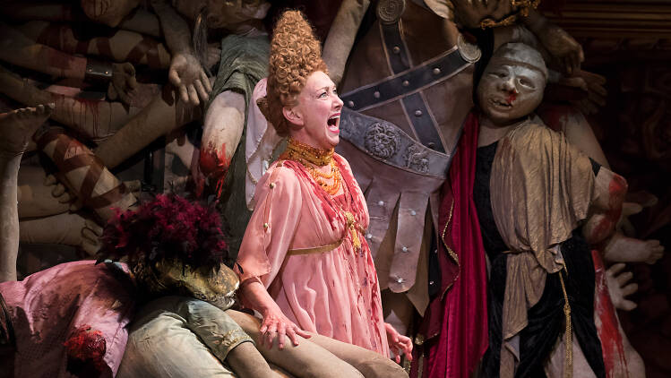Julie White in Gary: A Sequel to Titus Andronicus Caption: Julie White in Gary: A Sequel to Titus Andronicus Credit: