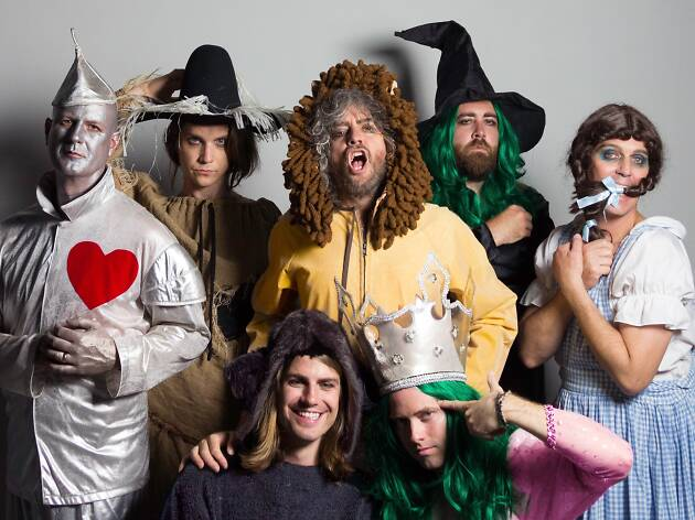 The Flaming Lips dressed as characters from the Wizard of Oz