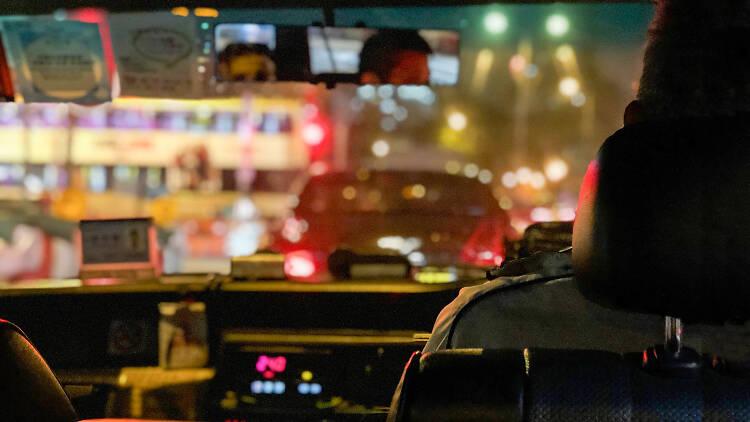 Hong Kong taxi interior