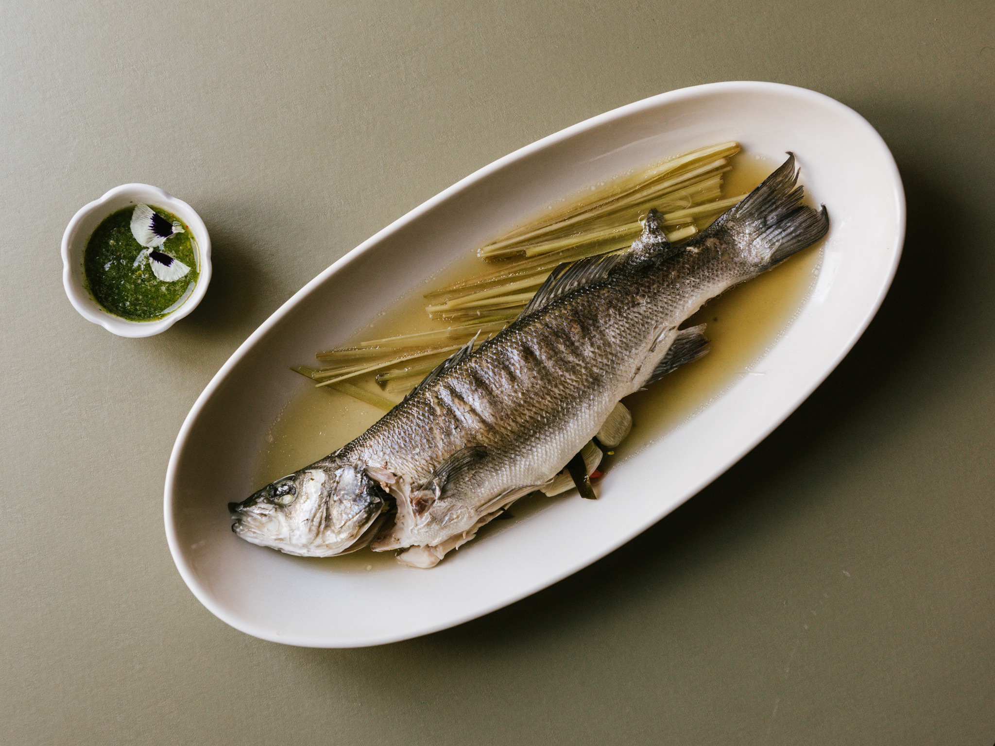 A whole fish at Kin Dee restaurant in Berlin