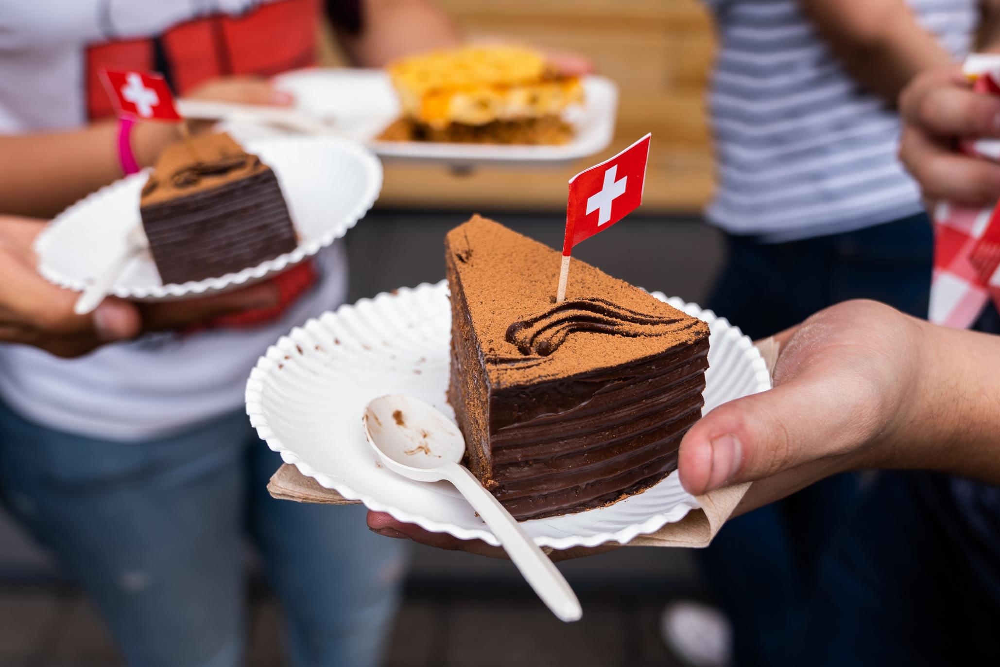 Postre suizo en el área gastronómica de la FICA 2019