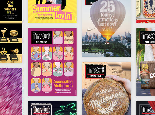Time Out Melbourne covers collage