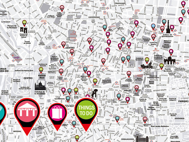 Discover Madrid with the Time Out map!